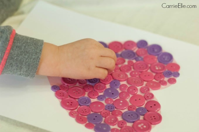Easy Button Craft for Kids