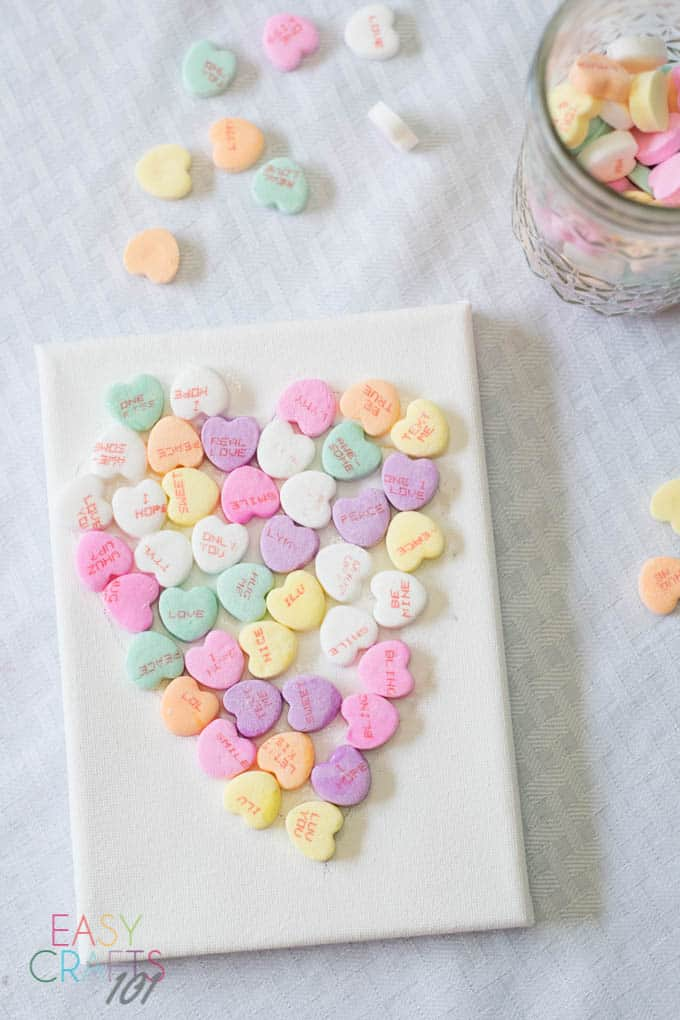 Valentine's Candy Heart Easy Craft for Kids