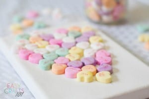 Valentines Candy Heart Easy Craft for Kids