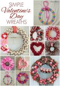 Easy Valentine's Day Wreaths