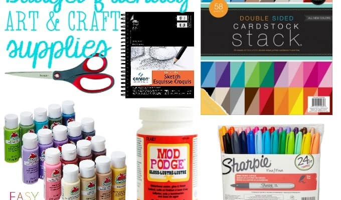Budget Friendly Art and Craft Supplies