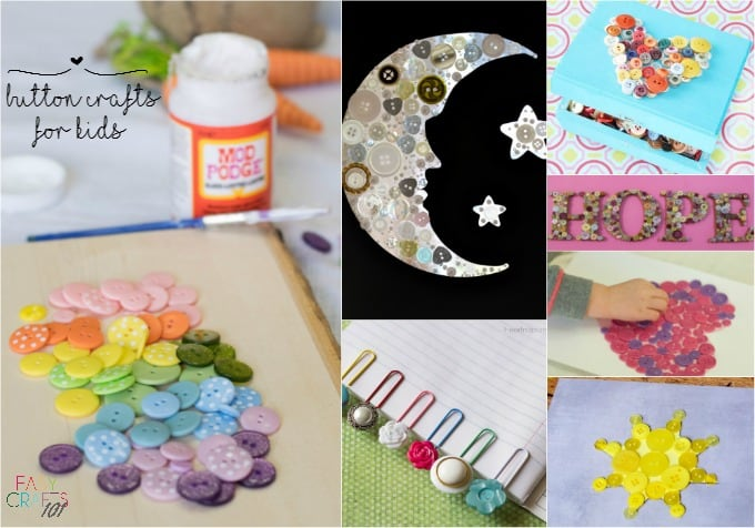 Easy Button Crafts For Kids Easy Crafts 101