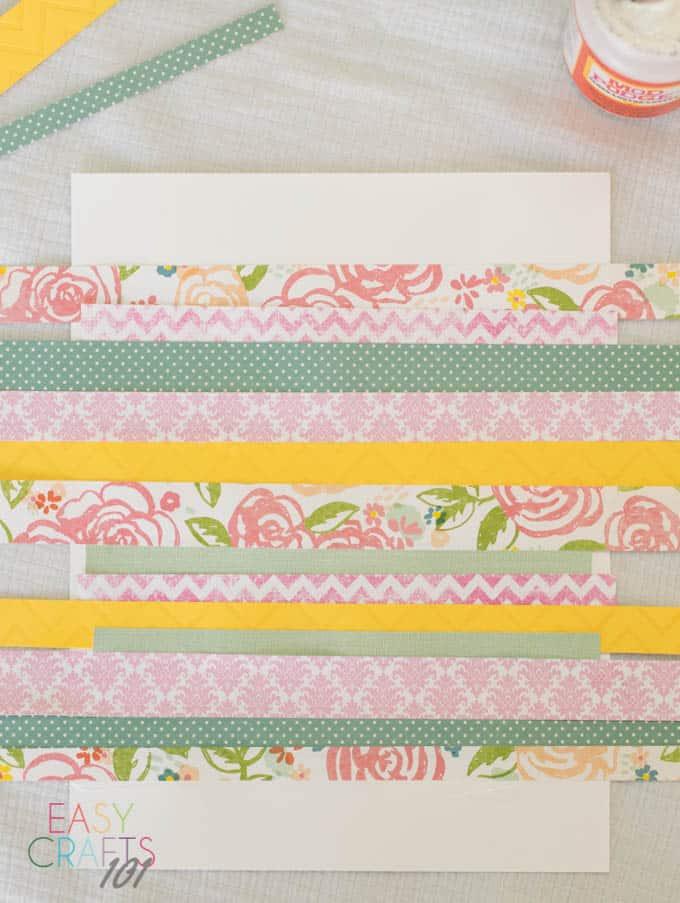 Scrapbook Paper Easter Egg Easy Craft