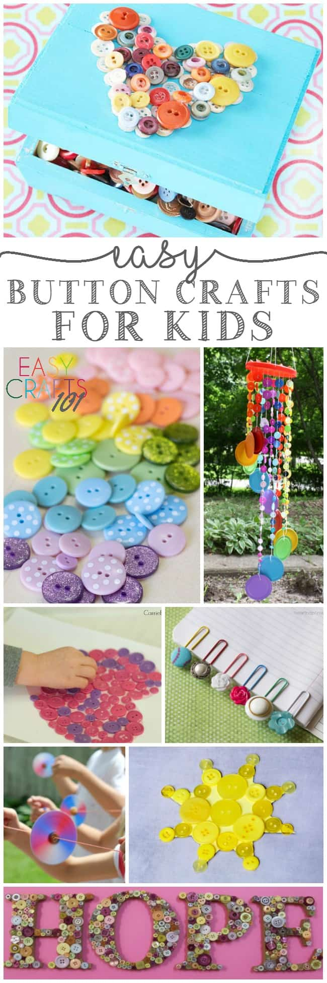 Easy Button Crafts for Kids - Easy Crafts 101