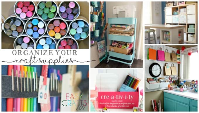 Craft room organization ideas easy crafts 101 - Organizing craft supplies in small space collection ...