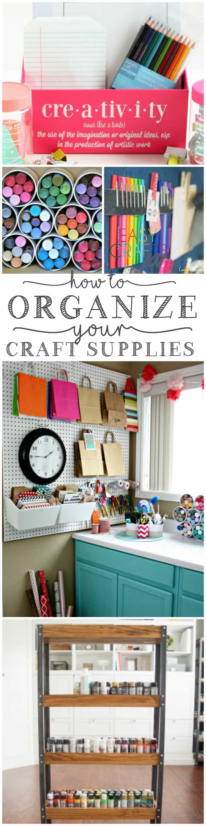 Craft room organization ideas easy crafts 101 for Craft supplies organization ideas