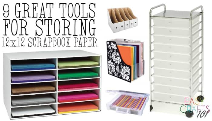 Tools for Storing Scrapbook Paper