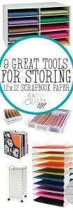 Ways to Store Scrapbook Paper