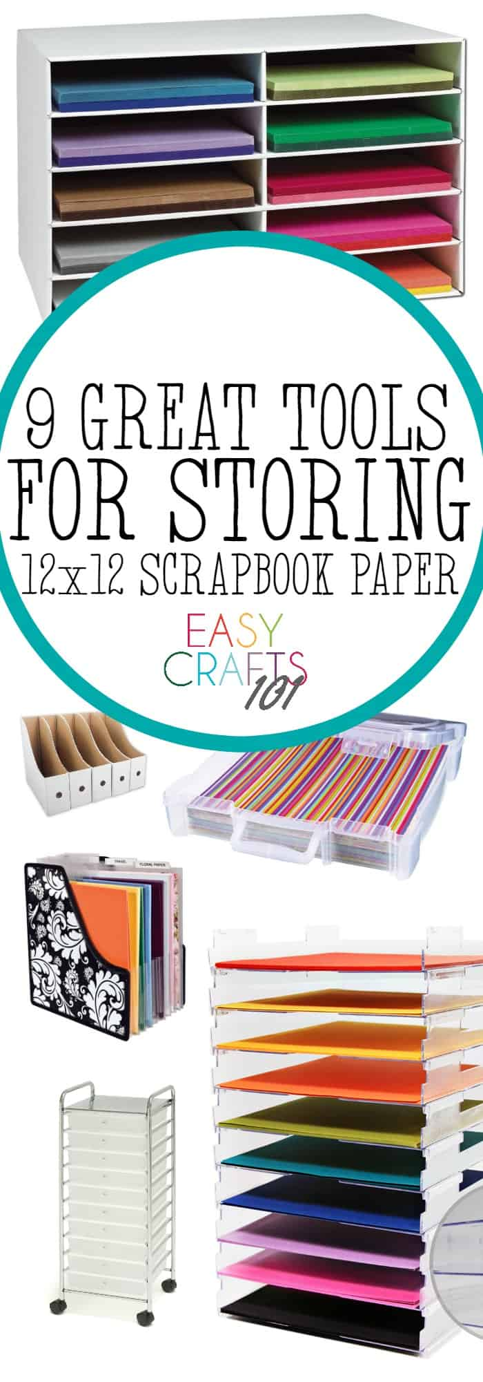 Ways to Store Scrapbook Paper