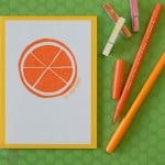 Easy Handmade Greeting Card with Orange