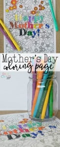 Mother's Day Coloring Page Free