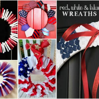 Red White and Blue Wreath Ideas