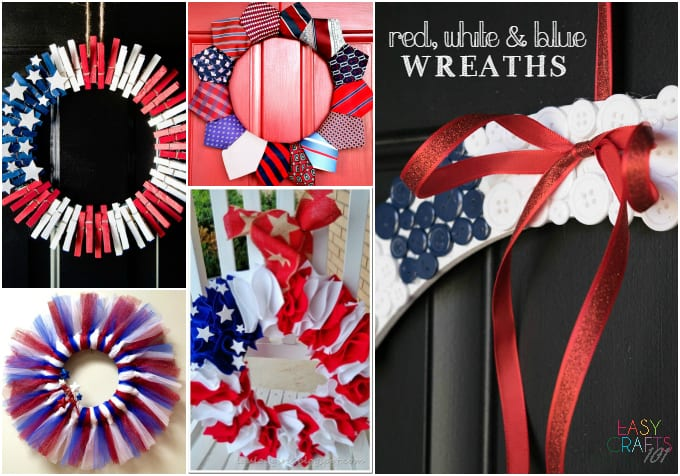 red white and blue craft ideas easy crafts 101 easy crafts for everyone 7890