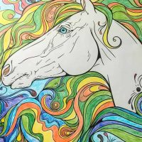 Free Printable Coloring Page: Horse Coloring Page