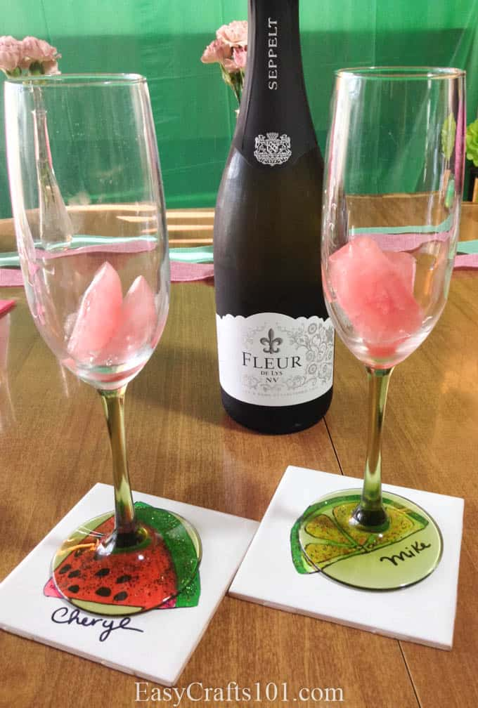 Champagne on Watermelon Ice