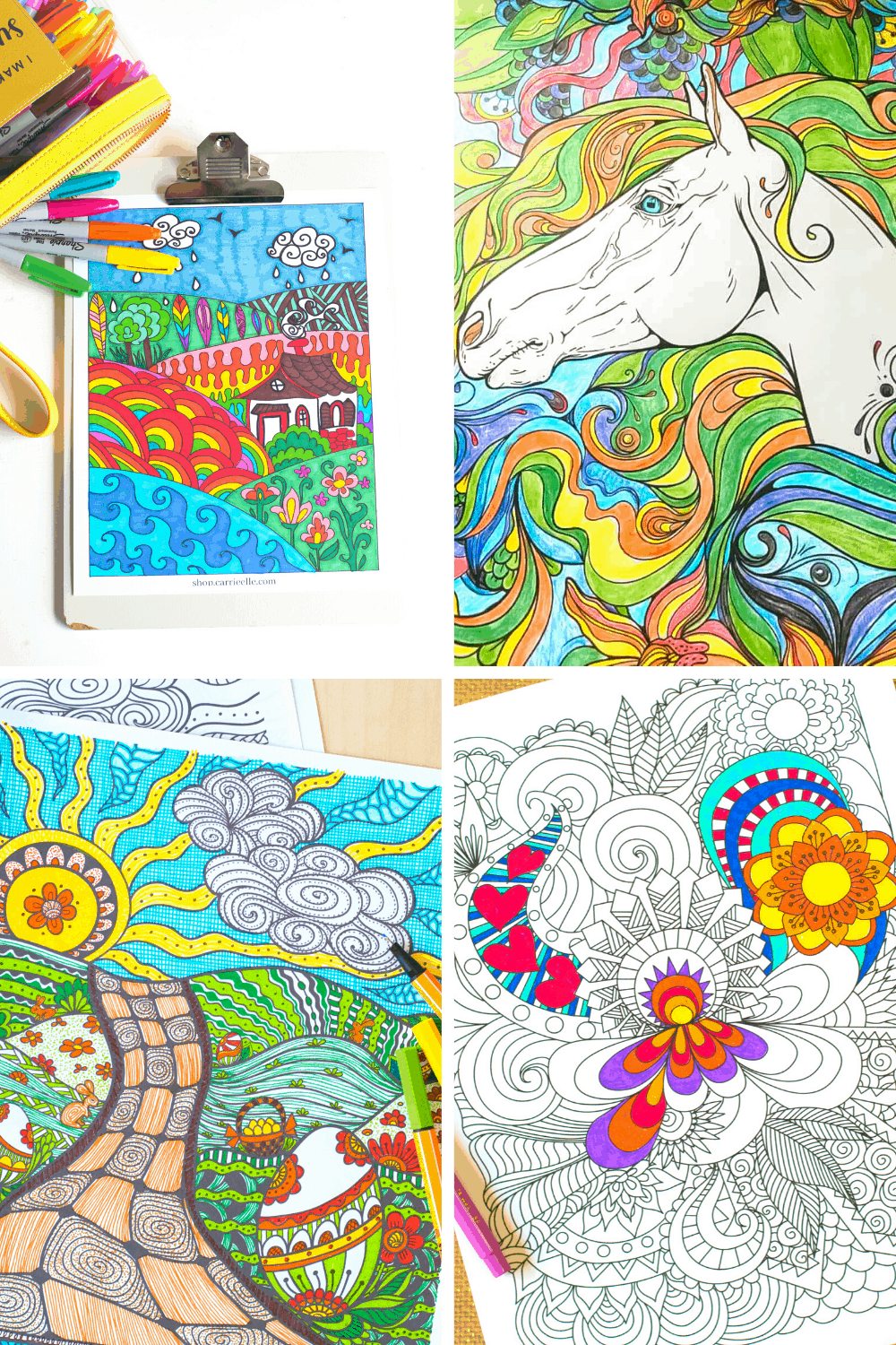 Gorgeous Printable Coloring Pages for Adults - Easy Crafts 101