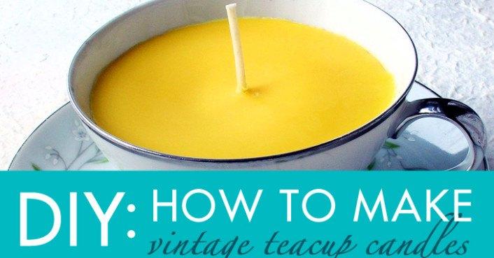 DIY Gift Idea: How to Make Vintage Teacup Candles