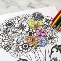 Fun Mother's Day Coloring Page Flower Printable