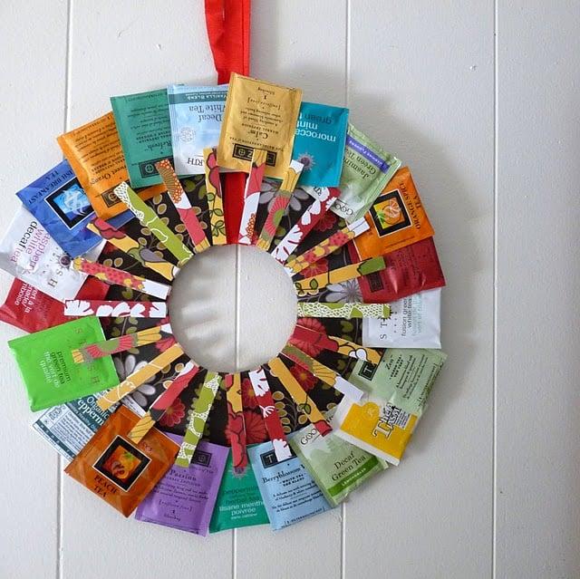 Make a Tea Wreath » Dollar Store Crafts