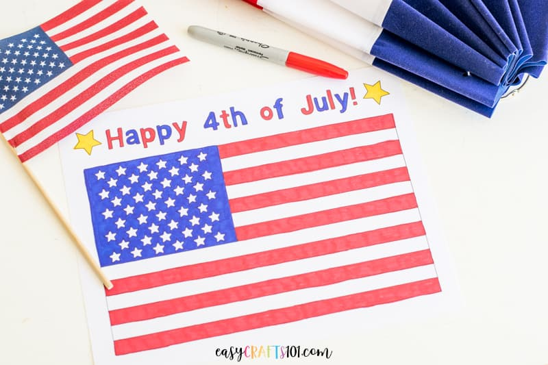 Printable 4th of July Coloring Page