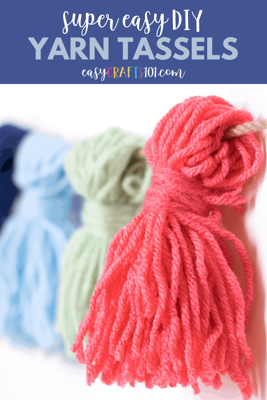 Easy DIY Yarn Tassels from EasyCrafts101