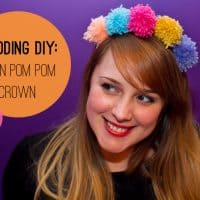 How To Make A Pom-Pom Headband Crown From Yarn or Wool