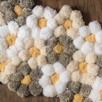How to Make a Pom Pom Rug the Easy Way - It's SO Fluffy!