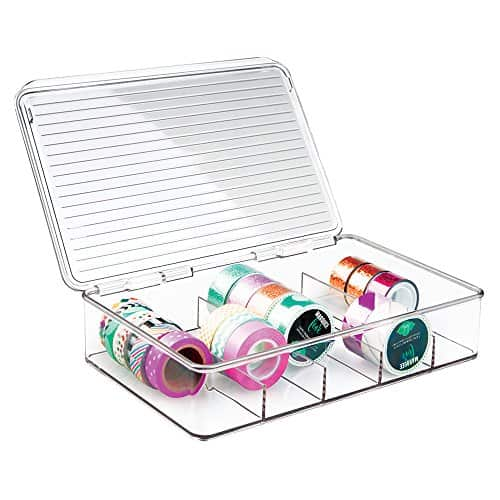 Storage Organizer Box with lid for organizing Washi Tapes