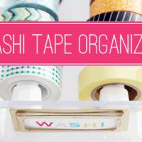 89 DIY Washi Tape Organizer