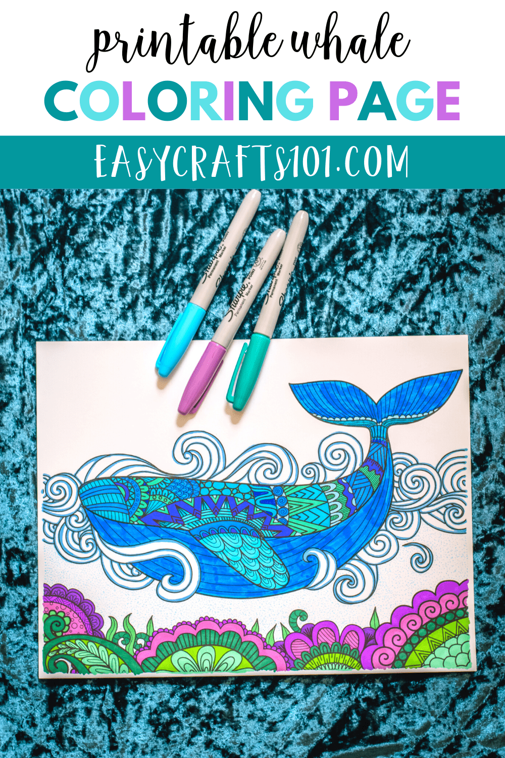 Printable Whale Coloring Page
