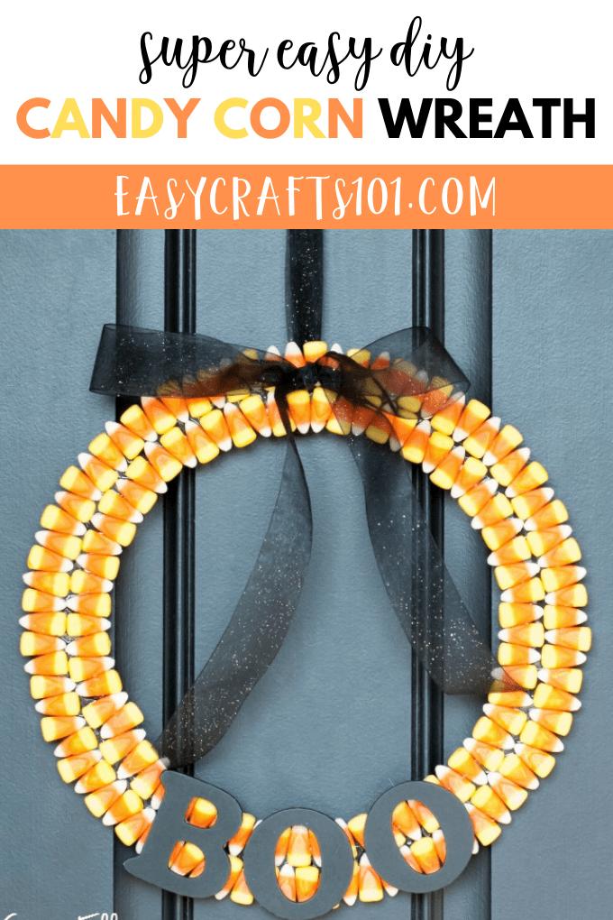 Easy DIY Candy Corn Wreath